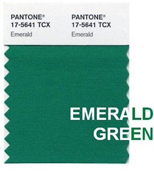 Emerald green swatch