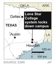 Lone Star College system locks down its north Harris campus amid reports of a shooter on campus