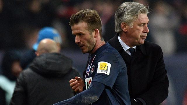 Ligue 1 - Ancelotti wants Beckham to extend PSG contract