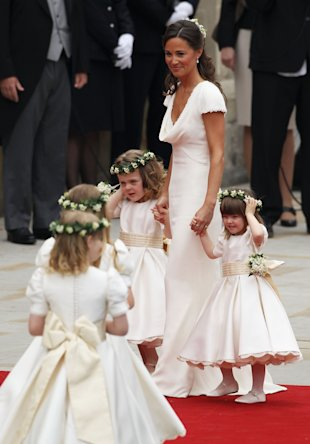 Pippa Middleton in that now-famous bridesmaid dress. (Dan Kitwood/Getty Images)