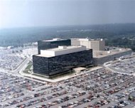 An undated aerial handout photo shows the National Security Agency (NSA) headquarters building in Fort Meade, Maryland. REUTERS/NSA/Handout via Reuters