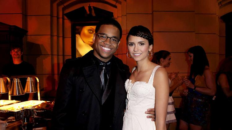 "Tristan Wilds (""90210"") and Nina Dobrev (""The Vampire Diaries"") attend The CW Fall Premiere party presented by Bing at Warner Bros. Studios on September 10, 2011 in Burbank, California."