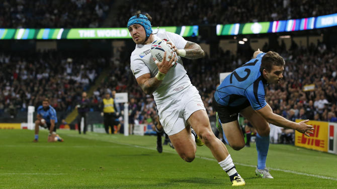 England's Jack Nowell scores their sixth try