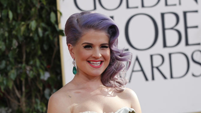 Television personality Kelly Osbourne arrives at the 70th annual Golden Globe Awards in Beverly Hills