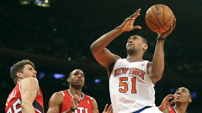 Anthony scores 35, Knicks beat Hawks 111-106