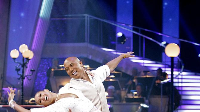 """Hines Ward and Kym Johnson perform on """"Dancing with the Stars."""""""