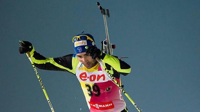 Biathlon - Fourcade helps France to relay win in Italy