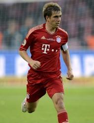 Bayern Munich captain Philipp Lahm during the German Cup final against Borussia Dortmund on May 12. Bayern are aiming to salvage a disappointing season by claiming their fifth European Champions League crown