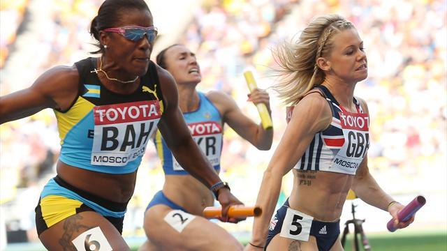 World Championships - GB women get 4x100 bronze after France disqualified