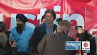 Justin Trudeau brought his campaign for the federal Liberal leadership to Calgary Wednesday.