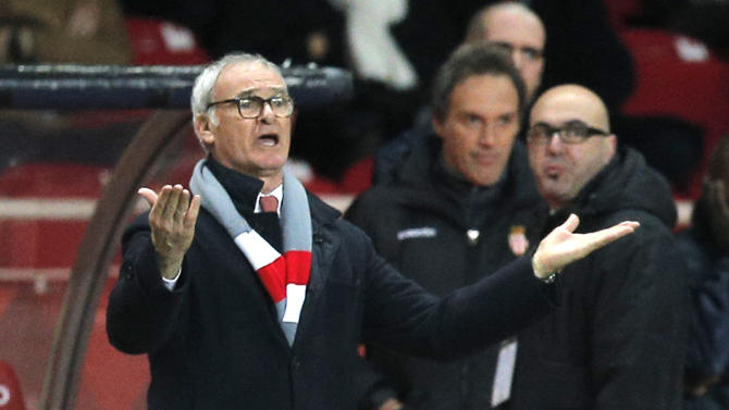 coach of Monaco Claudio Ranieri of Italy reacts during the French League One soccer match against Paris Saint Germain, in Monaco stadium, Sunday, Feb. 9 , 2014