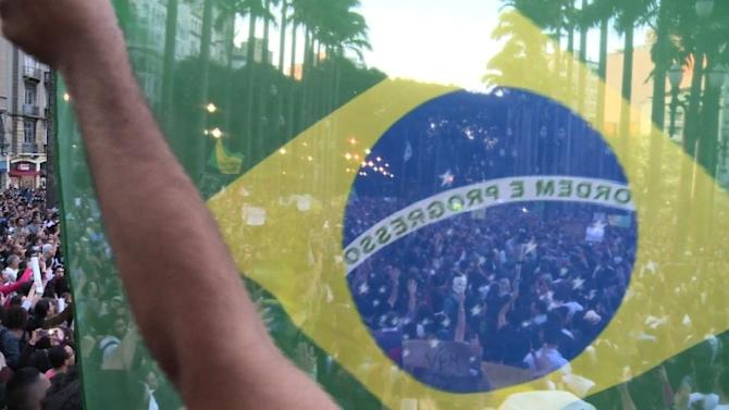 50,000 protest in Sao Paulo 'Tropical Spring' revolt