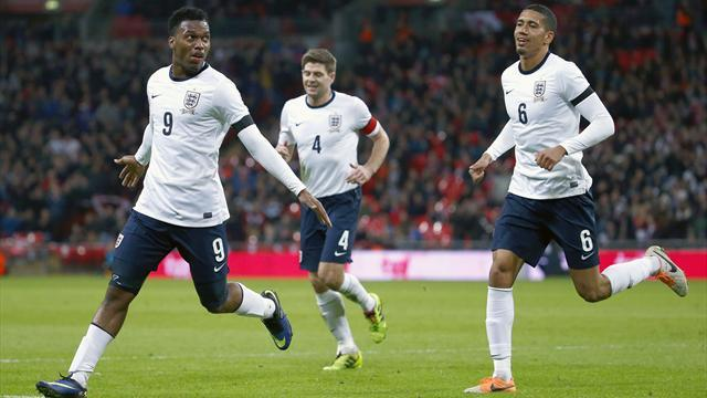 World Cup - Sturridge strikes late as England edge past Denmark