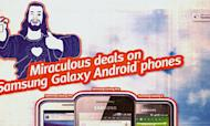 Phone Firm Rapped For 'Jesus Thumbs-Up' Ad