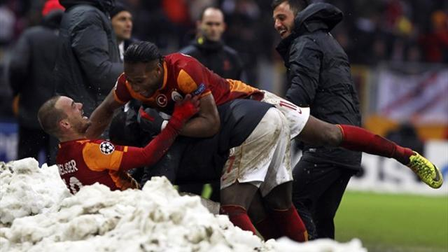 Champions League - Decisive Galatasaray goal crowns difficult year for Sneijder