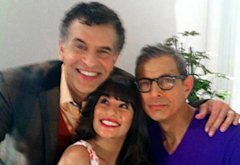 Glee, Brian Stokes Mitchell, Lea Michele and Jeff Goldblum   | Photo Credits: Twitter.com