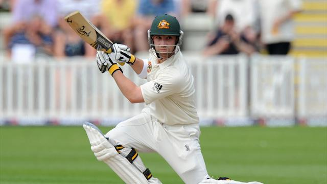 Cricket - Hughes shines as Australia get good start