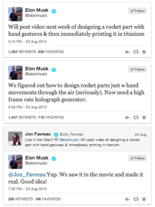 Elon Musk Creating Hand Motion Technology Inspired by 'Iron Man' image Screen Shot 2013 08 26 at 12.47.28 PM