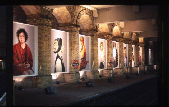 Cindy Sherman's work at Gloucester Road Station (Billboard Commission Copyright 2003)