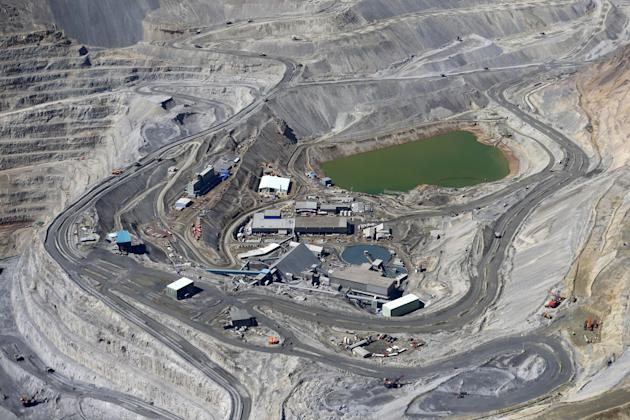 File photo of Anglo American's Los Bronces copper mine at Los Andes Mountain range, near Santiago city