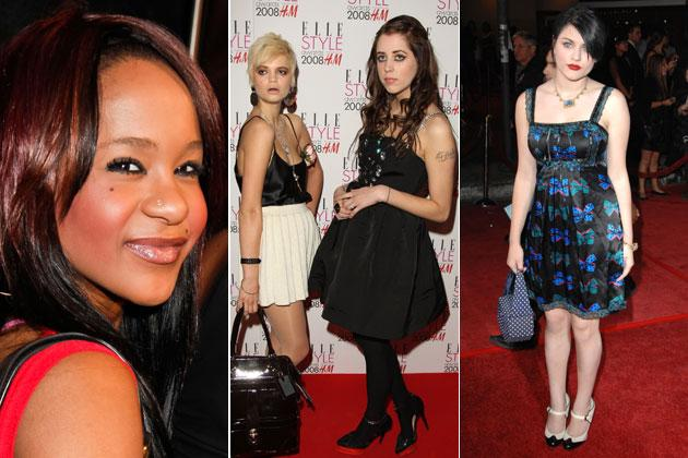 Bobbi Kristina Brown, Whitney Houston, Frances Cobain, Pixie, Peaches, Geldof