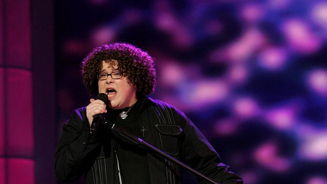 Chris Sligh performs in front of the judges on the 6th season of American Idol.