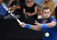 France's Jo-Wilfried Tsonga returns the ball to his Italian opponent Andreas Seppi during their ATP Moselle Open final tennis match in Metz, eastern France. Tsonga comfortably defended his Metz title with a 6-1, 6-2 win over Italian fifth seed Andreas Seppi