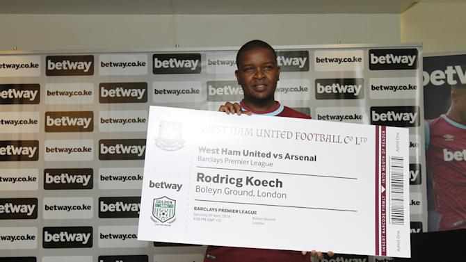 Betway unveils Golden Goal winner