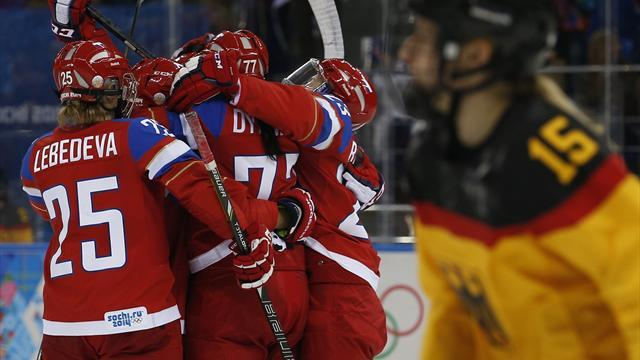 Ice Hockey - Russia's women come from behind to down Germany