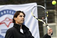 Spain's Rafael Nadal is pictured in Rotterdam on November 28, 2012. With Nadal's physical state unknown, following his long break with knee problems, victory in Paris does not look a long shot for Novak Djokovic, who would surely then target the hallowed calendar-year Grand Slam