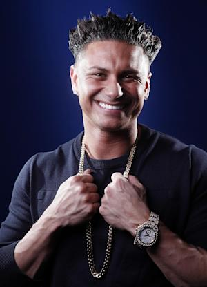 "In this March 27, 2012 photo, TV personality Paul ""Pauly D"" DelVecchio poses for a portrait in New York. DelVecchio will have his own spin-off of ""Jersey Shore"" called ""The Pauly D Project,"" premiering March 29 on MTV. (AP Photo/Carlo Allegri)"