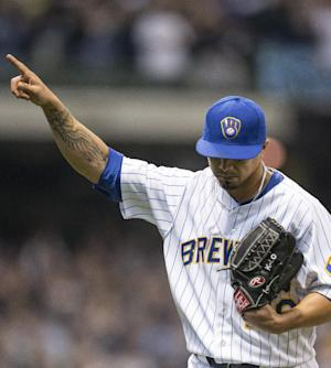 Brewers win 9th straight, Lohse beats Pirates