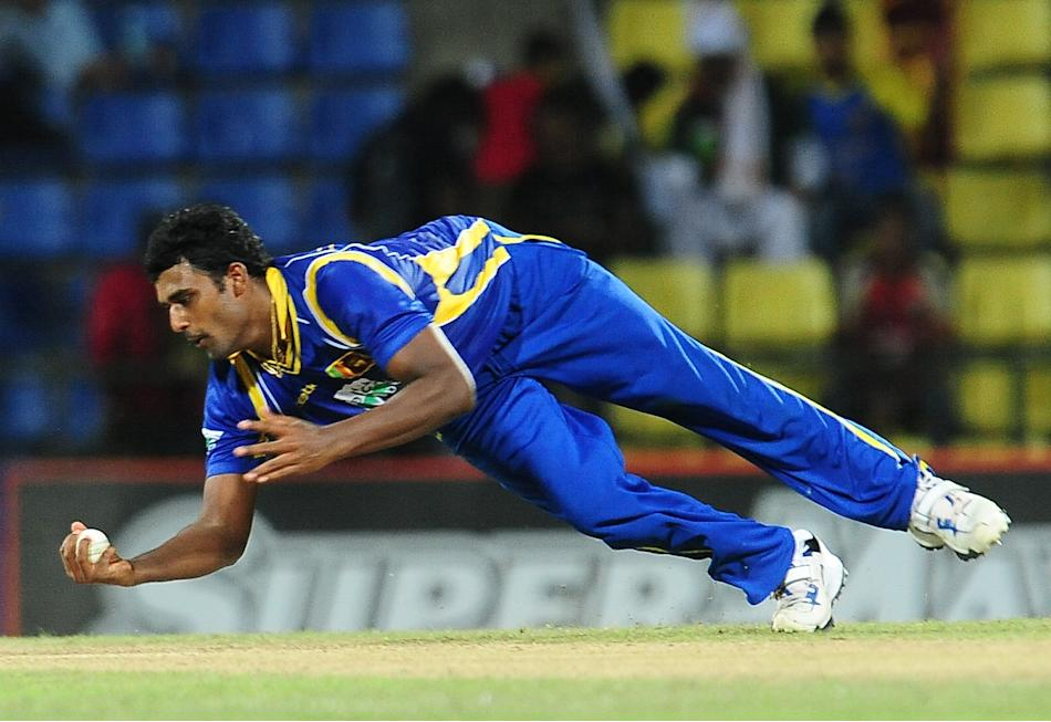 Sri Lankan cricketer Thisara Perera take