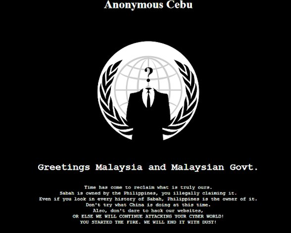 A screenshot of the hacked Malaysian website.