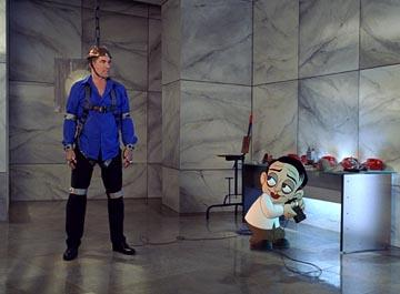Timothy Dalton and that Peter Lorre spoof guy in Warner Bros. Looney Tunes: Back in Action