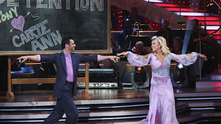 "Tony Dovolani and Kate Gosselin on ""Dancing with the Stars."""