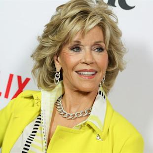 "Jane Fonda arrive at the LA premiere of ""Grace and Frankie"" at the Regal LA LIVE on Wednesday, April 29, 2015, in Los Angeles. Sorry, ""Nine to Five"" fans, but Dolly Parton will never be on ""Grace and Frankie.""So says Fonda, who reunites with another ""Nine to Five"" co-star, Lily Tomlin, for the new Netflix series debuting Friday. THE CANADIAN PRESS/AP/Photo by Rich Fury/Invision/AP"