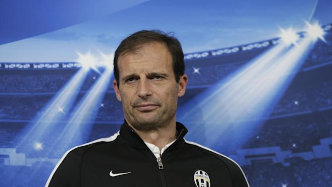 Football: Juventus coach Massimiliano Allegri during the press conference