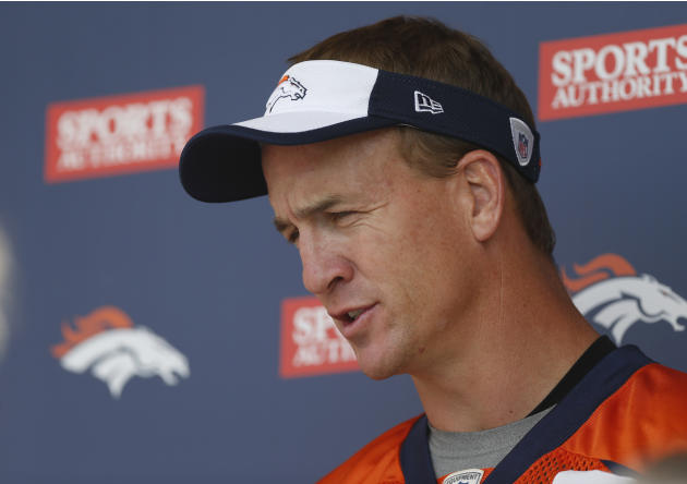 Peyton Manning adjusting to new offense in Denver