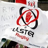 Tributes are left at Ravenhill, where a book of condolence was opened in memory of Nevin Spence