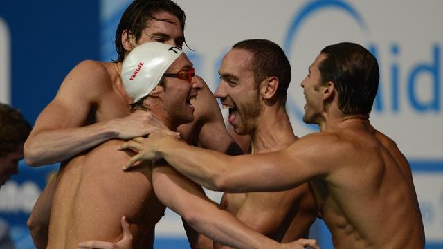 Swimming - France wins 4x100 medley gold after US disqualified