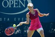 American Nicole Gibbs during her US Open match against Russia's Yulia Putintseva in September 2011. Serena Williams, who has a first-round bye as one of the top four seeds at Stanford, will face either Gibbs or Thai qualifier Noppawan Lertcheewakarn in her second-round opener