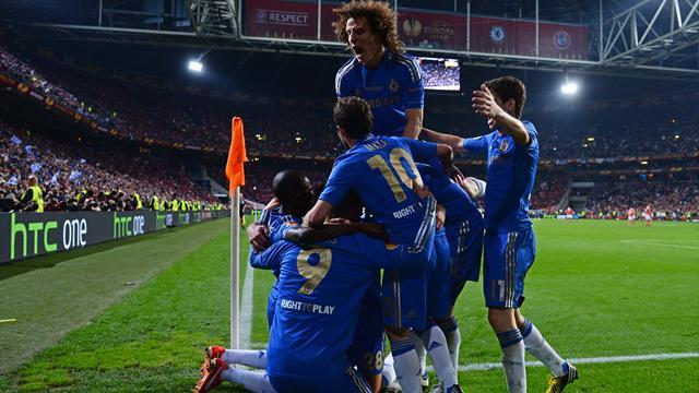Europa League - Ivanovic heads Chelsea to last-gasp glory against Benfica
