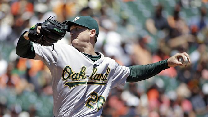 Athletics beat Giants 6-1 to win Bay Bridge series