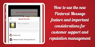 How To Use Pinterest Messages On Your Desktop Or Mobile Device image Pinterest Marketing Tips How to use the Pinterest Message Feature 600x300