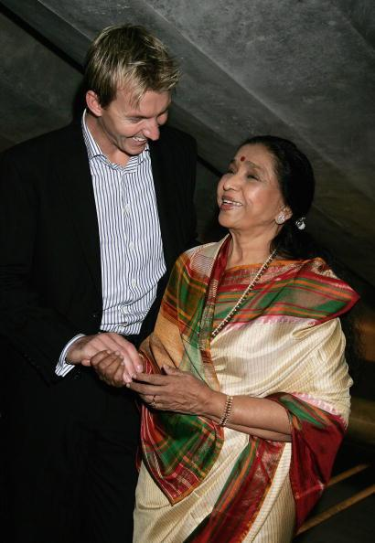 Asha Bhosle & Brett Lee Photo Call