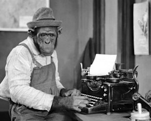 Tips for Outsourcing SEO Services for a Small Business image monkeys typing
