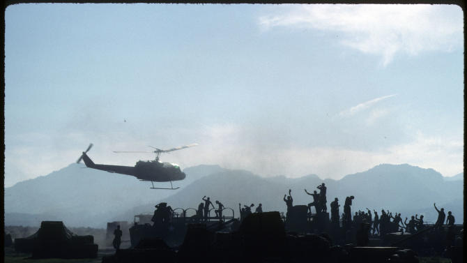 """China Beach"" HELICOPTER LANDING NEAR TROOPS"