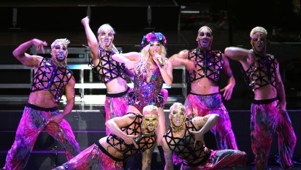 Backstage at Ke$ha's Wild Pop Circus