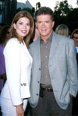 Premiere: Alan Thicke with a galpal at the Hollywood premiere of Paramount's The Original Kings of Comedy - 8/10/2000